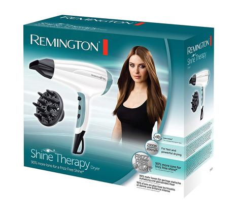 Remington Ionic Shine Therapy Women's Hair Styling Dryer | Diffuser | 2300W | White Thumbnail 3