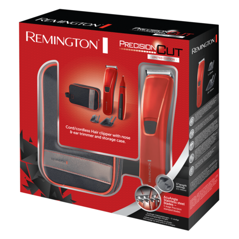 Remington Precision Hair Clipper Gift Pack | Nose & Ear Trimmer | 2 Adjustable Combs Thumbnail 3
