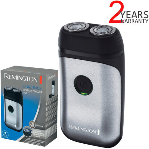 Remington R95 Dual Track Rotary Rechargeable Mini Electric Men's Shaver | Compact Thumbnail 1