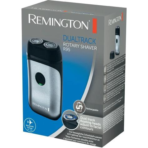 Remington R95 Dual Track Rotary Rechargeable Mini Electric Men's Shaver | Compact Thumbnail 3