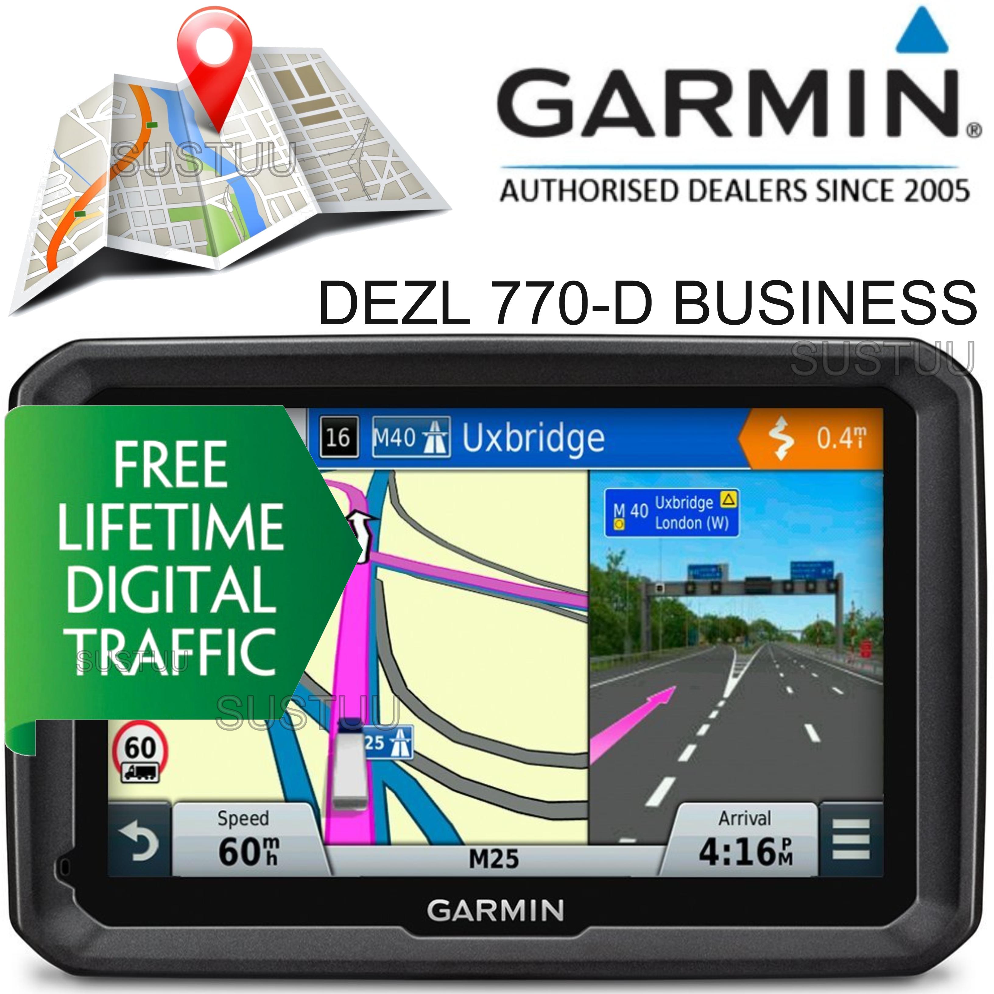 Garmin DEZL 770-D Business?7'' Truck HGV GPS SATNAV?LifetimeMap & DigitalTraffic