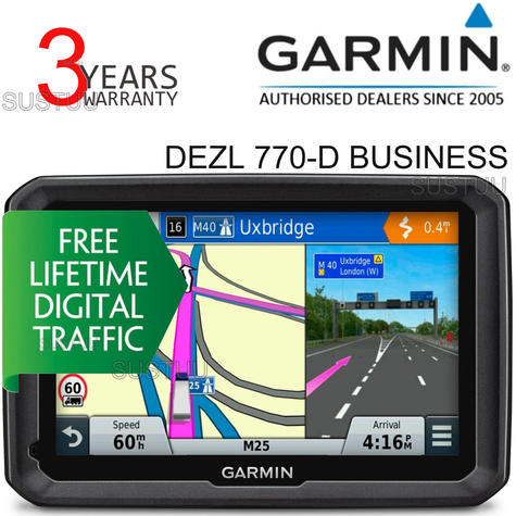 Garmin DEZL 770-D Business?7'' Truck HGV GPS SATNAV?LifetimeMap & DigitalTraffic Thumbnail 2