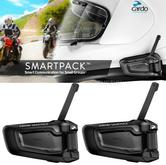 Cardo Scala Rider SmartPack Duo Bluetooth Headset | Motorcycle Helmet Intercom | Black