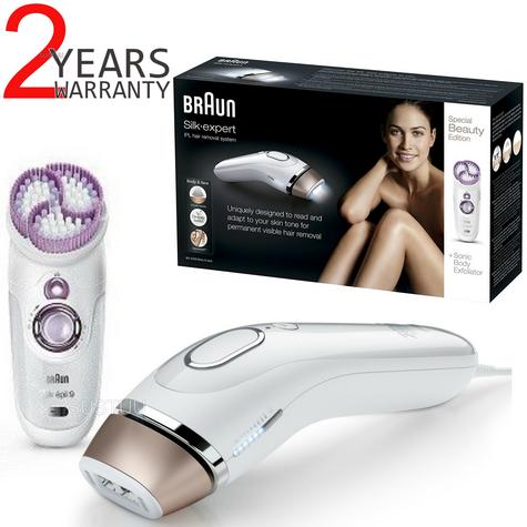Braun Silk-Expert IPL Body & Face Laser Hair Removal and System Sonic Body Exfoliator Thumbnail 6