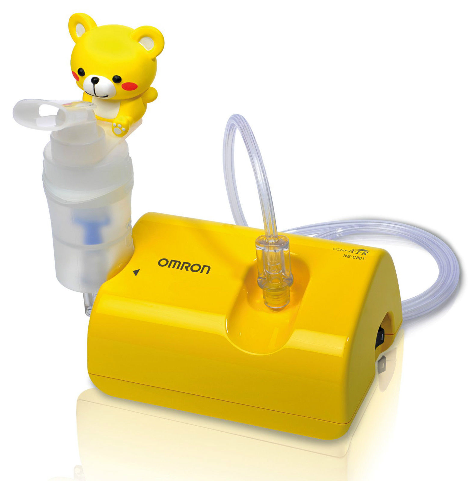 Omron Childrens Nebuliser CompAir / low Noise / Light Weight + Fun Kids Accessories