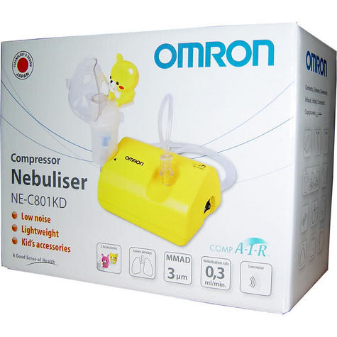 Omron Childrens Nebuliser CompAir / low Noise / Light Weight + Fun Kids Accessories Thumbnail 5
