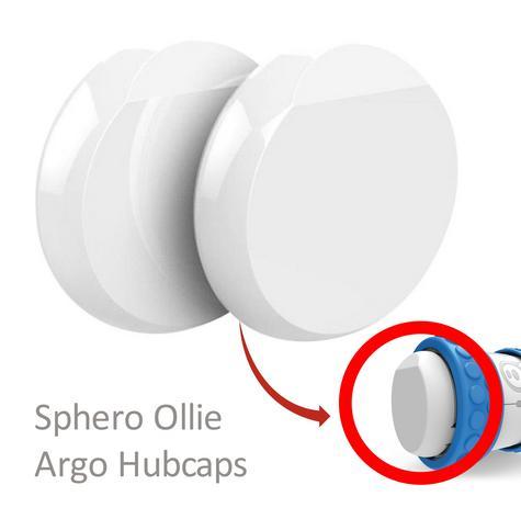 Sphero Ollie Argo Hubcaps Easy Perform Trick for Sphero Ollie - White Thumbnail 1
