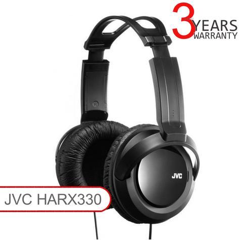 JVC HARX330 | Full-Size Over-Ear Stereo Headphone | Deep Bass | 2.5m Cord | For DJ | Black Thumbnail 1