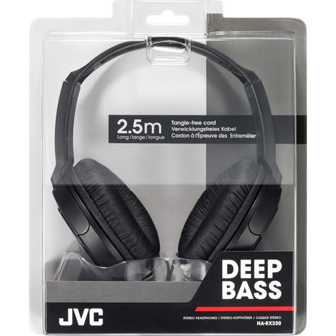 JVC HARX330|DJ Headphone|Over-Ear|Full-Size Deep Bass Stereo|Stereo|2.5m Cord  Thumbnail 4