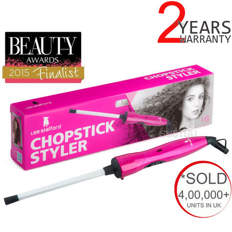 Lee Stafford The Original Chopstick Styler?Ceramic Hair Curler Wand?200°C?LSHT01 Thumbnail 1