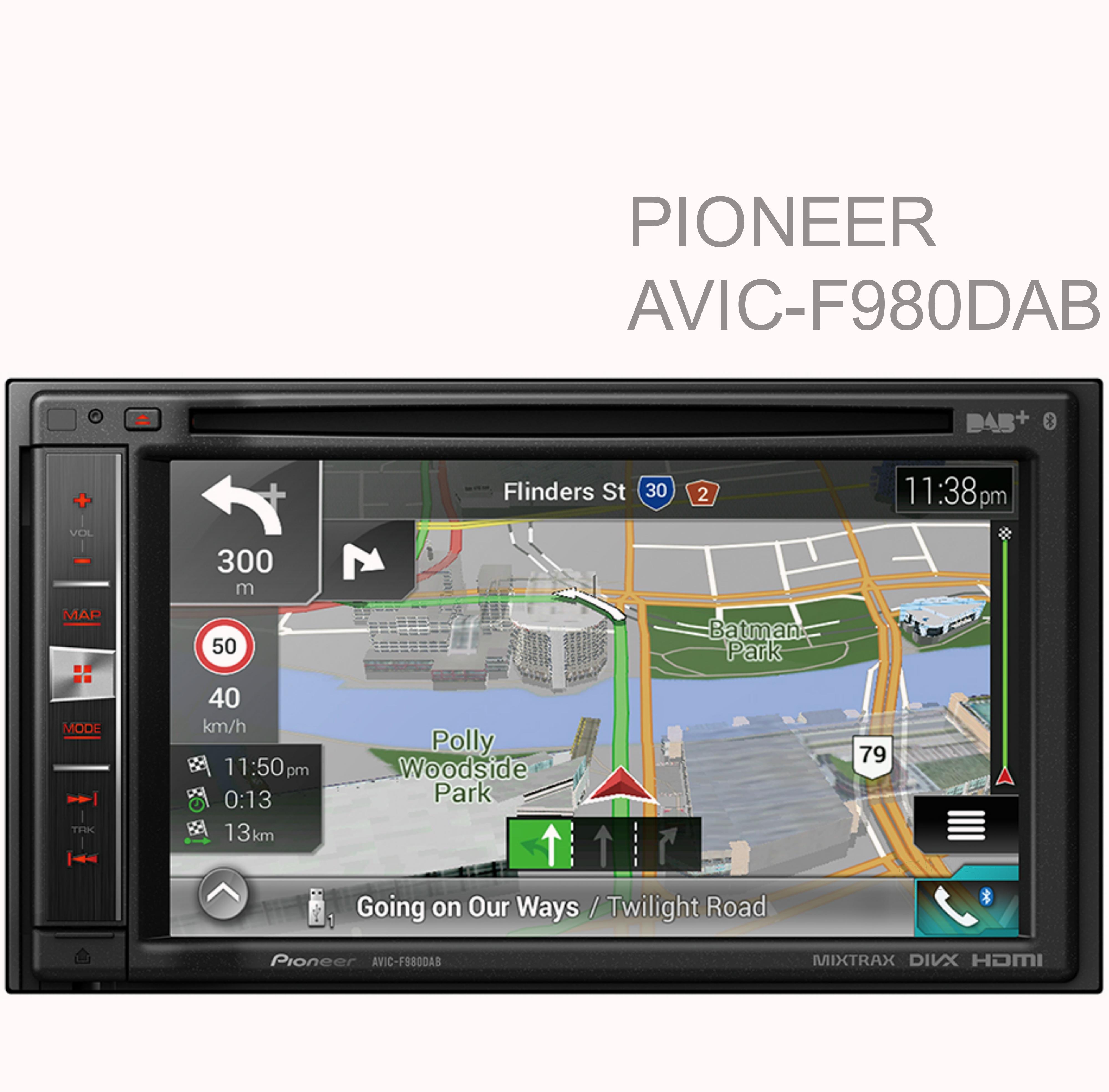 pioneer 6 2 car stereo touch navigation 2din camper cd. Black Bedroom Furniture Sets. Home Design Ideas