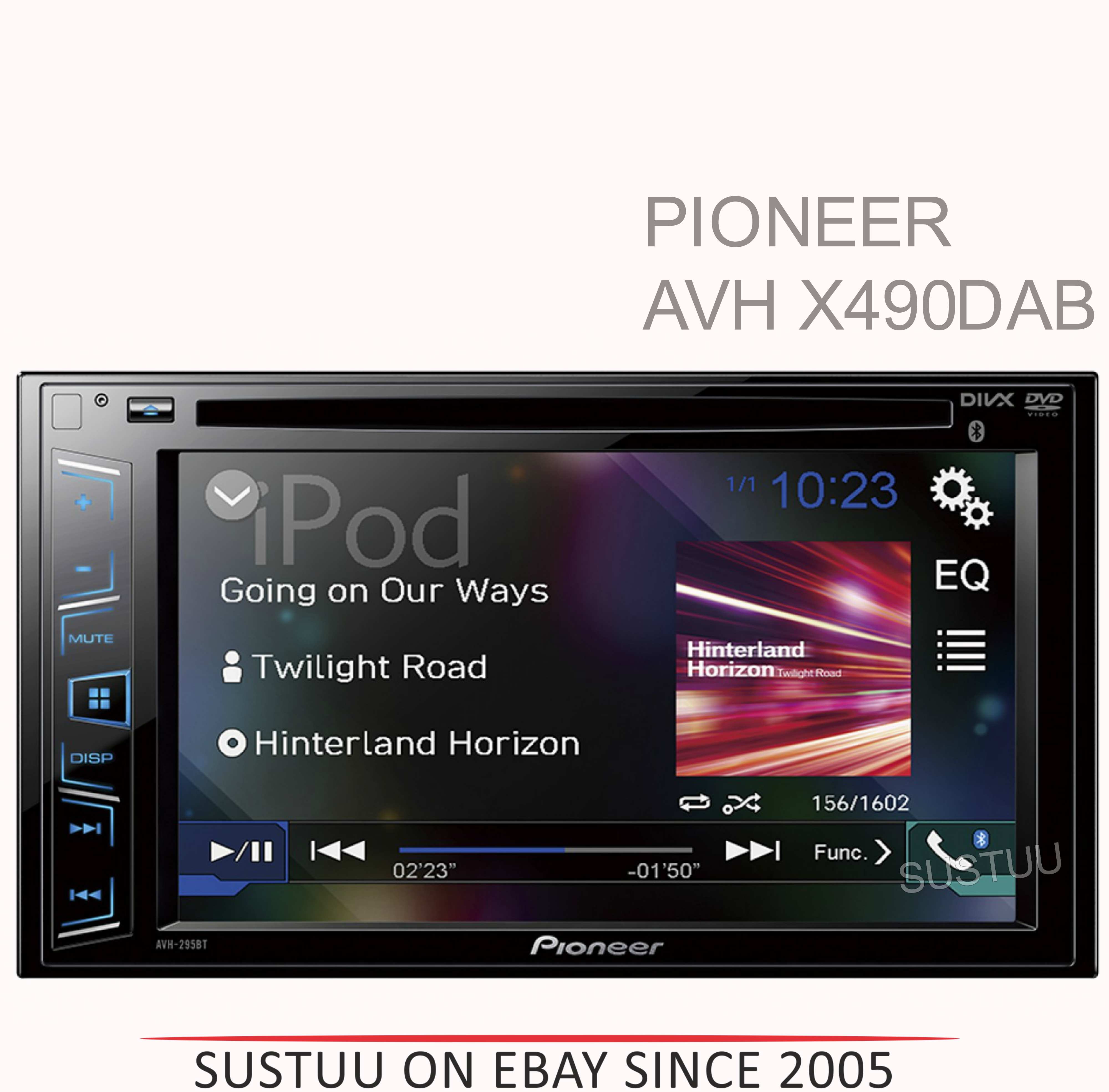 pioneer 6 2 touch usb cd dvd mp3 dab bluetooth iphone. Black Bedroom Furniture Sets. Home Design Ideas