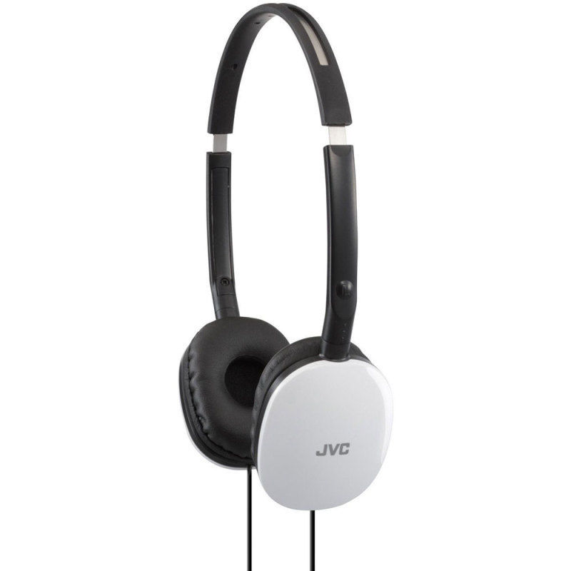 JVC Flats Foldable Style Stereo Headphones - White for Android/Ios HAS160W