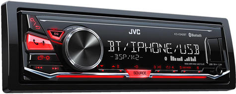 JVC KD X342BT Bluetooth/Aux/Usb/iphone/Android Red Display Mechless Car Stereo Thumbnail 2