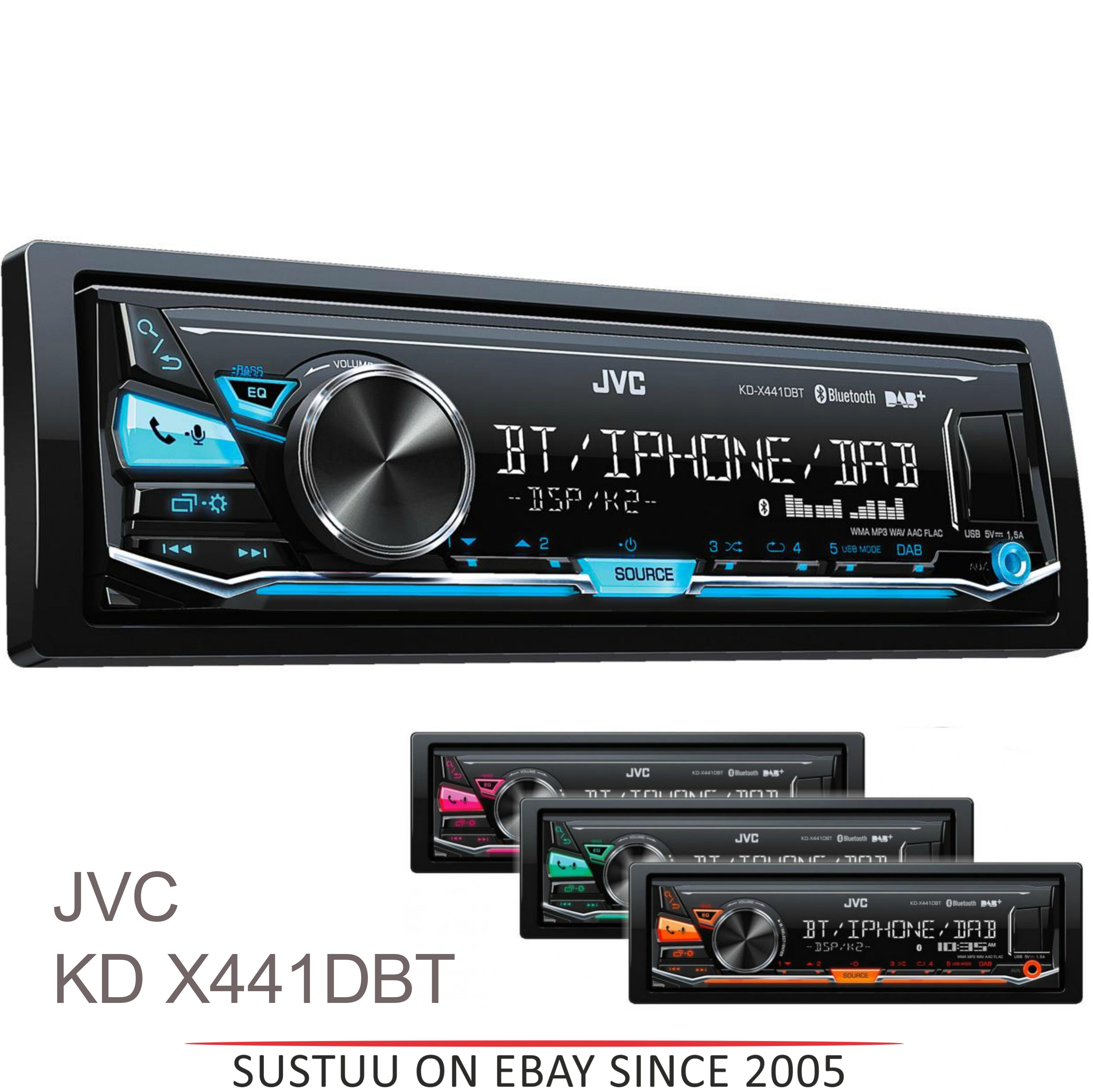 android jvc kd x441dbt car stereo dab am fm bluetooth usb. Black Bedroom Furniture Sets. Home Design Ideas