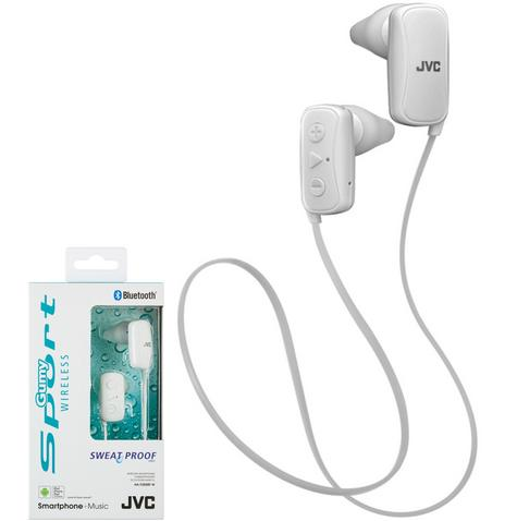 JVC HAF250BTWE Gumy Sports Bluetooth Headphones|9.0mm |In Ear|Android/Ios|White Thumbnail 1
