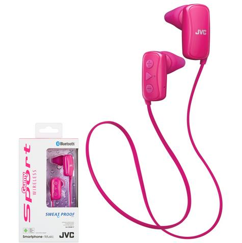 JVC HAF250BTPE Gumy Sports Bluetooth Headphones|9.0mm |In Ear|Android/Ios|Pink| Thumbnail 1