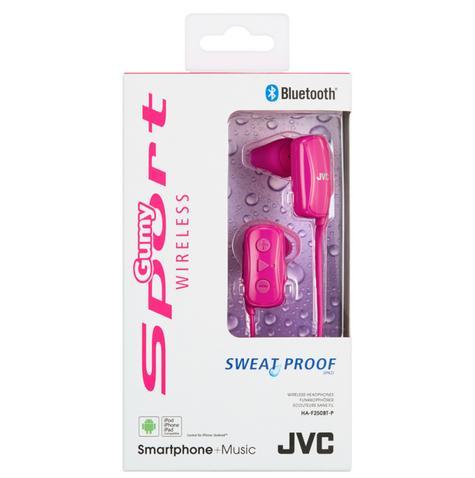 JVC HAF250BTPE Gumy Sports Bluetooth Headphones|9.0mm |In Ear|Android/Ios|Pink| Thumbnail 4