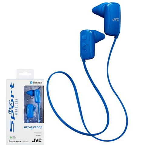 JVC HAF250BTAE Gumy Sports Bluetooth Headphones|9.0mm |In Ear|Android/Ios|Blue| Thumbnail 1