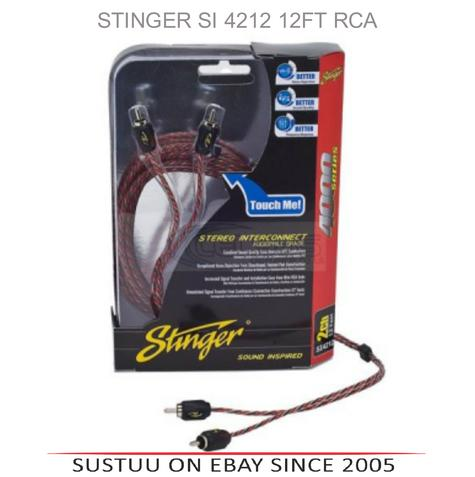 STINGER SI 4212 12ft 2 Channel 4000 Series Stereo Interconnect RCA Cable Lead Thumbnail 1