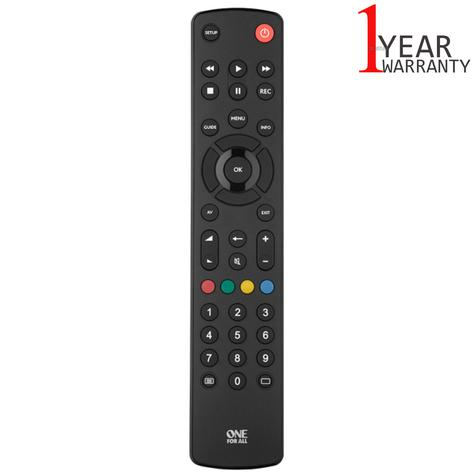 One For All Contour Universal Remote Control For TV | Easy Setup | Black | URC1210 | NEW Thumbnail 1