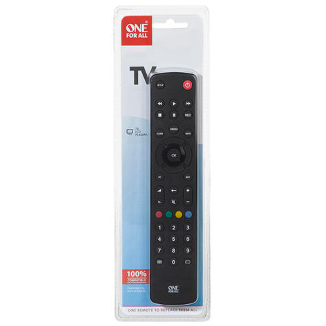 One For All Contour Universal Remote Control For TV | Easy Setup | Black | URC1210 | NEW Thumbnail 3