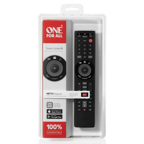 One For All Universal Remote Smart Control | 5 Devices Control | Black | URC7955 | NEW Thumbnail 3