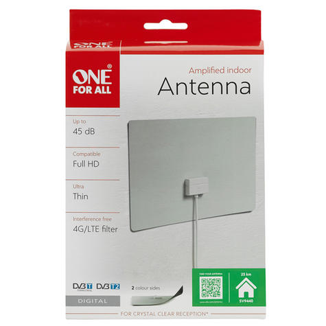 One For All 4G Ultra Thin Amplified Indoor Aerial Antena 45dB | Full HD | SV9440 | NEW Thumbnail 5