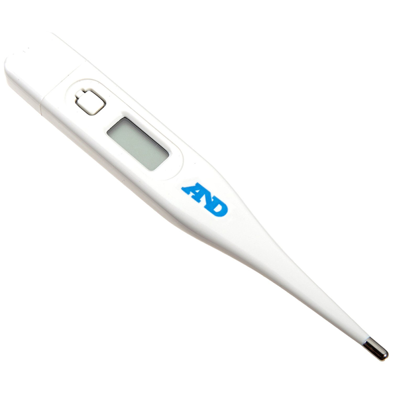 A&D Oral/Rectal/Under Arm Medical Digital Thermometer - Memory & Fever Alarm