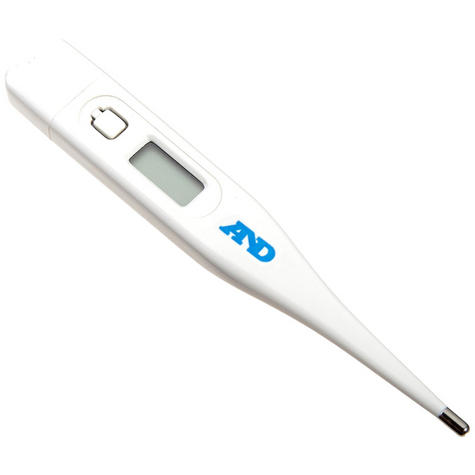 A&D Oral/Rectal/Under Arm Medical Digital Thermometer - Memory & Fever Alarm Thumbnail 1