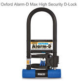 Oxford ALARM-D Max High Security Sold Secure Silver D-Lock (320L x 173mmW x 14m)