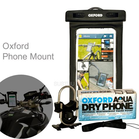 Oxford AQUA Dry Phone Mount|Universal|Weatherproof|Fits in Cycle Handlebar-Include Multiple brackets|Black Thumbnail 1
