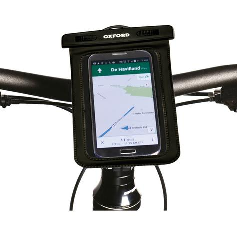 Oxford AQUA Dry Phone Mount|Universal|Weatherproof|Fits in Cycle Handlebar-Include Multiple brackets|Black Thumbnail 2