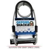 Oxford Shackle Bike & Cycle 12DUO U Lock & Lockmate Cable|Hard Steel|LK332|Black