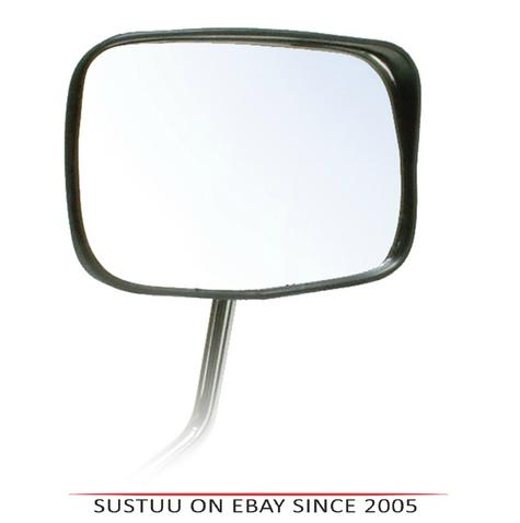 Oxford Oblong Fully Adjustable Mirror-Black Rainshielded For Motorbike & Cycle Thumbnail 1