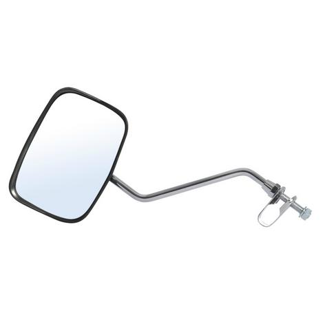 Oxford Oblong Fully Adjustable Mirror-Black Rainshielded For Motorbike & Cycle Thumbnail 2