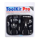 Oxford Motorcycle Scooter Car Pro Tool Kit 27 Piece Set | Compact - Underseat | Black