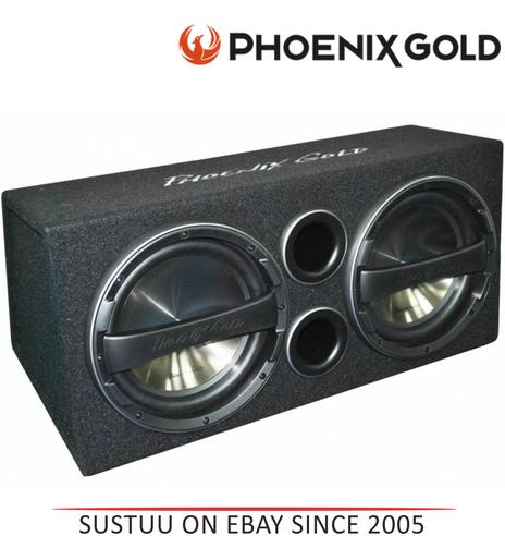 "Phoenix Gold Z212ABV2 Double 12"" Ported 640 Watts Remote Bass Active Subwoofer Thumbnail 1"