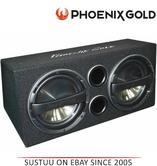 "Phoenix Gold Z212ABV2 Double 12"" Ported 640 Watts Remote Bass Active Subwoofer"