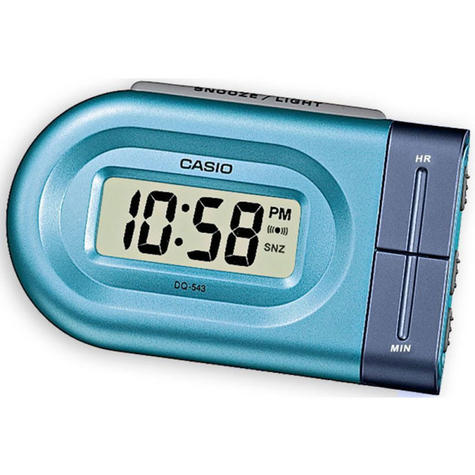Casio DQ543-2  Bedside Digital Beep Alarm Clock / Snooze / + Battery Included - Blue Thumbnail 1
