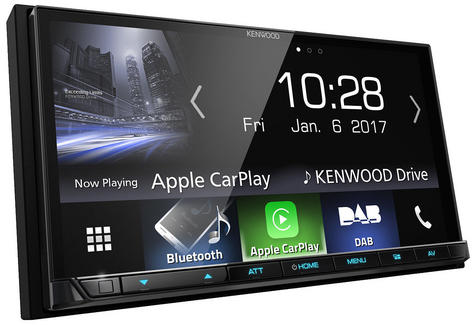 """Kenwood 7"""" In Car Stereo/ Multimedia Receiver DAB Bluetooth USB Aux Apple Carplay Android Auto Thumbnail 1"""
