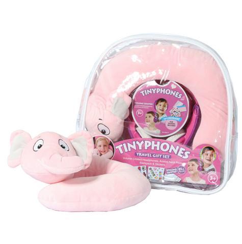 JVC HAKD5TRAV-P Tinyphone Travel Gift Set Headphone Neck Pillow Backpack Sticker Thumbnail 2