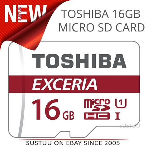 Toshiba Exceria M302 Micro SD Memory Card + Adaptor | 16 GB | 90 MB/s 4K Compatible Thumbnail 1