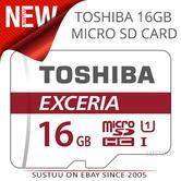 Toshiba 16GB MCL Micro SD *New