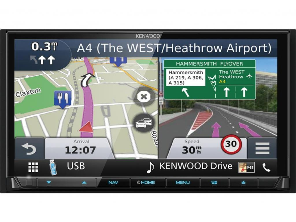Kenwood 7 car stereo gps satnav dab usb bluetooth apple