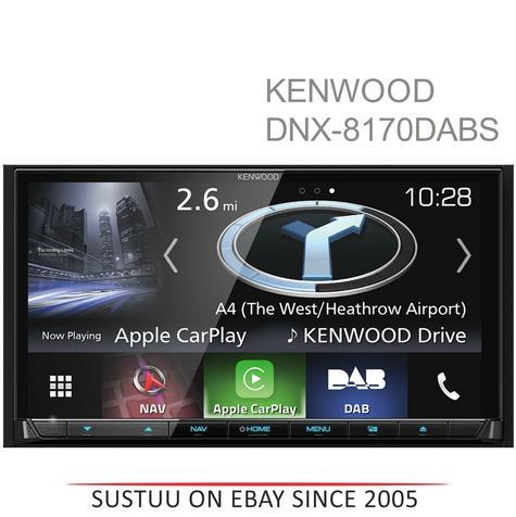 "Kenwood 7"" Car Stereo+GPS SatNav|DAB+|USB|Bluetooth|Apple CarPlay & Android Auto Thumbnail 1"