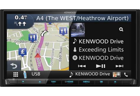 "Kenwood 7"" Car Stereo+GPS SatNav|DAB+|USB|Bluetooth|Apple CarPlay & Android Auto Thumbnail 5"