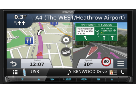 "Kenwood 7"" Car Stereo+GPS SatNav|DAB+|USB|Bluetooth|Apple CarPlay & Android Auto Thumbnail 6"