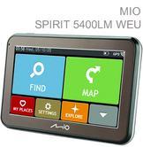 "New Mio Spirit 5400LM 5413N5020010|4.3"" In Car GPS-SatNav|IQ Routes|*Liftime EU Maps"