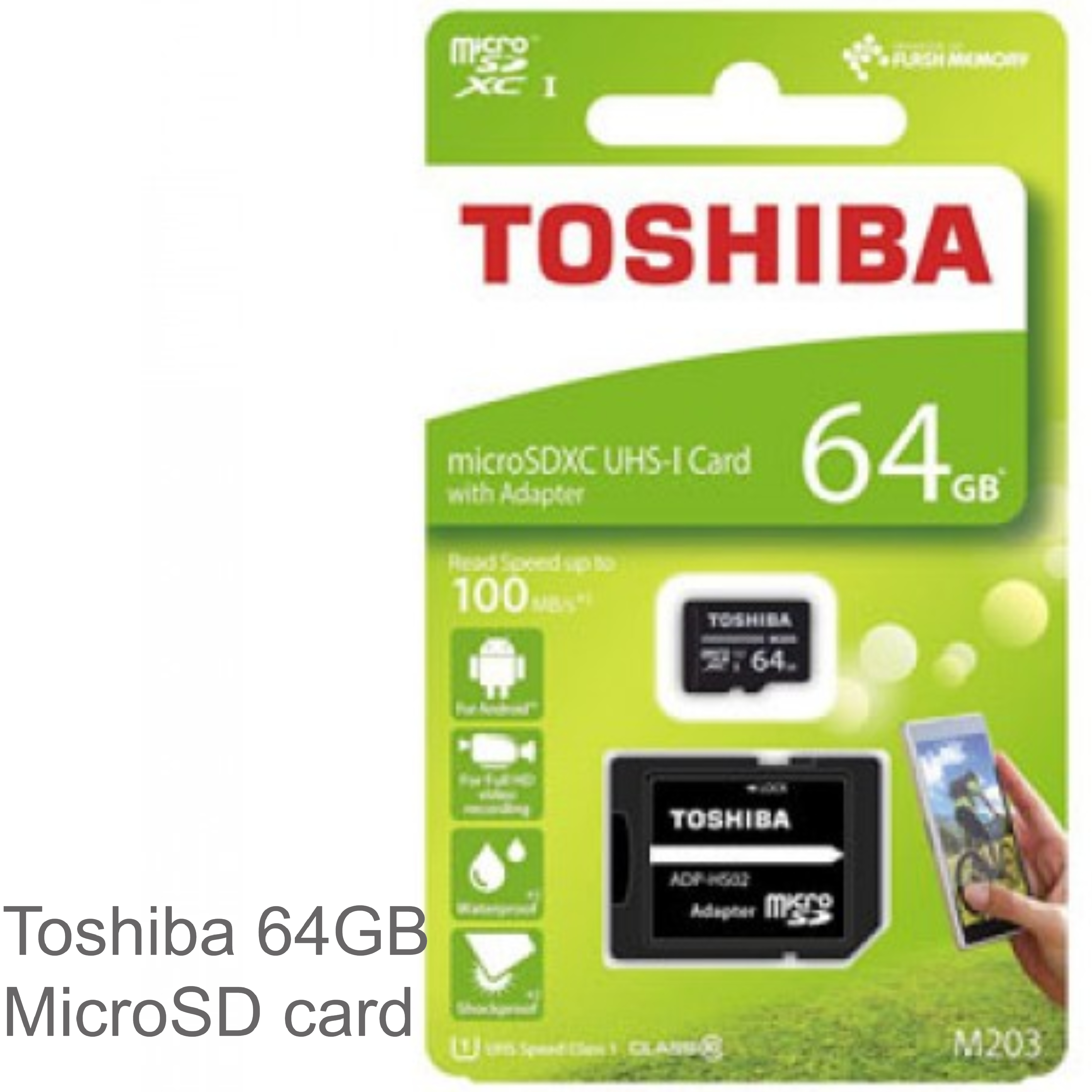 941fa4230 Tablet Sports Camera  Toshiba M203 Micro SDXC 100MB s 64GB Class 10 Memory  Card with Adaptor